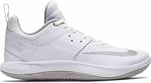 watch 0964f 3675b Nike Men s Fly by Low II Basketball Shoe White Metallic Silver Wolf Grey  Size