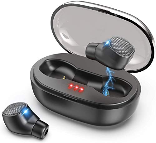 Wireless Earbuds, VNVM True Wireless Earbuds Bluetooth 5.0 Headphones Deep Bass Stereo Sound IPX7 Waterproof Auto Pairing in-Ear Bluetooth Earphone with Charging Case (Best Quality Earphones 2019)