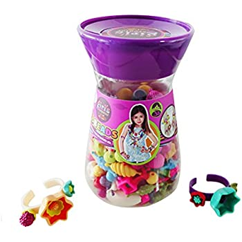 Pop Beads Snap Lock Beads Jewelry Making Kit For Necklace Ring Bracelet for 4 year above girls(240PCS)