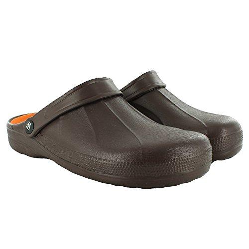 Wetlands Beach Garden Kühler UK 12 Schuhgrößen EVA Yard Braun Herren Clogs Neue 7 Mule EwqFInAx