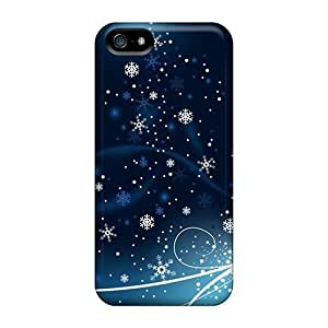 For Iphone 5/5s Protector Case Snowflakes Dancing Phone Cover