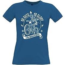 Cycling Womens Tee No Guts No Glory Mountain Biking Bike