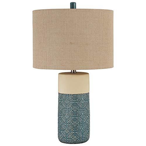 Ashley Furniture Signature Design - Evalyn Ceramic Table Lamp - Set of 2 - Green