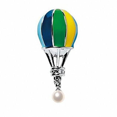 Kalapure Women's Girls Hot Air Balloon Pearl Lapel Pin Brooch, Green by Kalapure