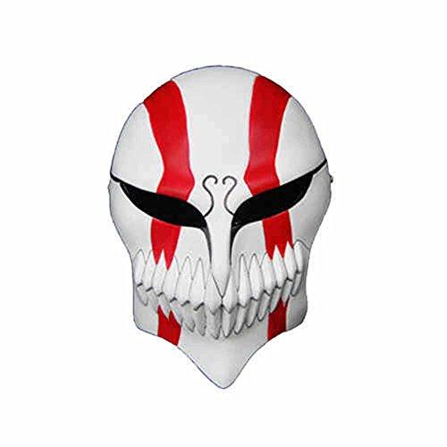 Death Kurosaki Ichigo Virtual Mask Resin Halloween Cosplay Prop Collection Gifts White ()
