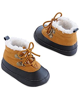 Carter's Baby Boy Plush-Lined Duck Boot Crib Shoes