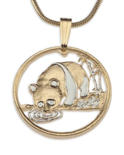 (Panda Bear Pendant Necklace by the Difference World Coin Jewelry)