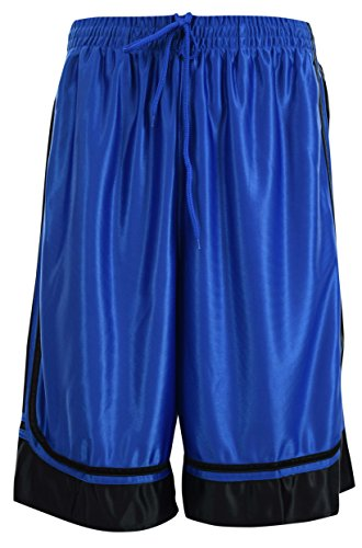 ChoiceApparel® Mens Two Tone Training/Basketball Shorts With Pockets (S up To 4XL) (L, Royal)
