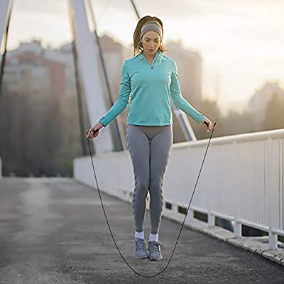 CHICHEN Jump Rope 10FT Length Adjustable to All Heights with Air Vent on The Grip Speed Skipping Rope for Workout,Fitness,Outdoor,Professional Training
