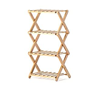 Free To Install The Flower Racks Solid Wood Interior Multi-layer Folding Flower Rack Balcony Living Room Multi-flower Pots Shelf ( Size : 382672cm )