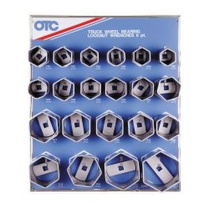 Set Locknut Socket - OTC 9850 6-Point Wheel Bearing Locknut Socket with Tool Board