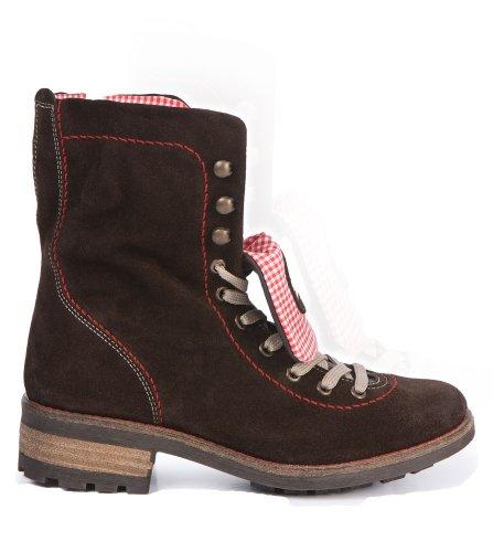 Stockerpoint Trachten Stiefel 3035 Leinen/Leder rot, Größe 38