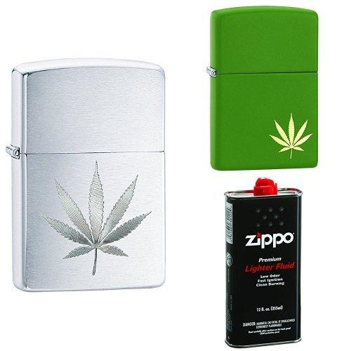 zippo pot leaf - 3