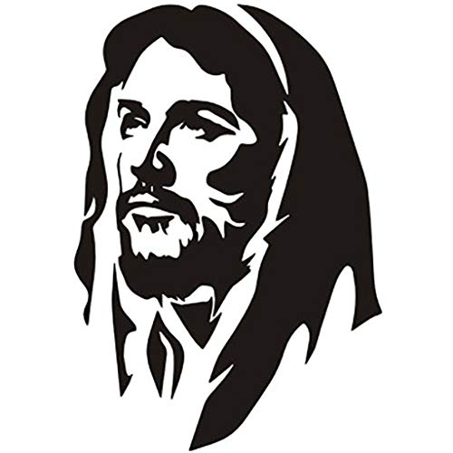 wuliLINLWall Vinyl Decal Home Decor Art Sticker Portrait of Jesus Religious Kids Nursery Bedroom Living Room Removable Stylish Mural Unique Design