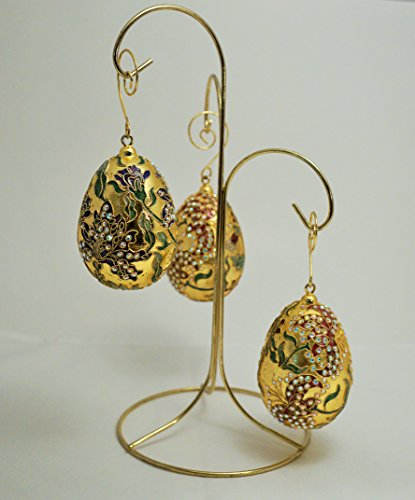(Ass. Swarovsky Cristall Cloisonne Ornament Egg 3.5