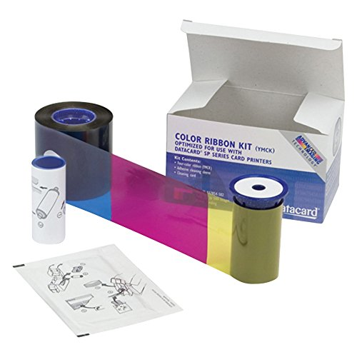 - Datacard 534000 002 Color Ribbon & Cleaning Kit YMCKT 250 Prints (534000-002)