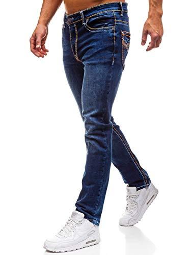 Jeans 6f6 w702 Blu Stile arancione Da Street – Bolf Strappati Uomo Inserti 7wxdq7AH