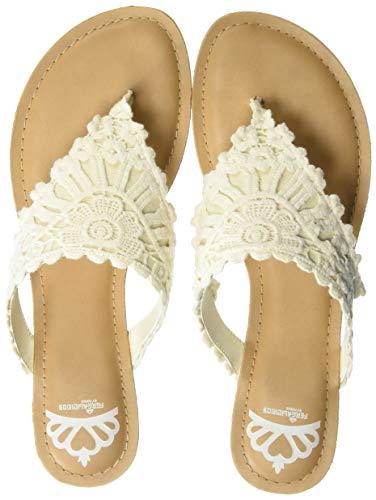 - Fergalicious Women's Samba Flat Sandal, Cream, 8.5 M US
