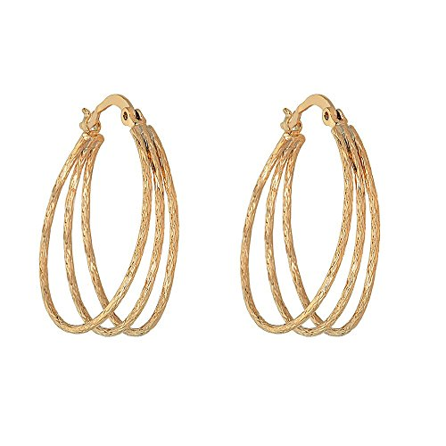 14K Gold Filled Earring with Fashionable Rich Spiral Loop Design (Filled Earrings Spiral Gold)