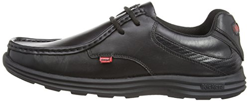 REASAN LACE Shoes Leather Kickers Mens Black qPYddp