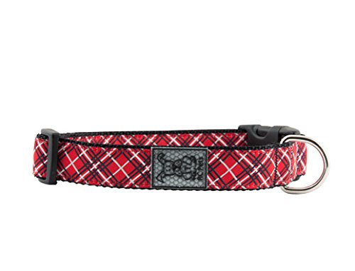 "RC Pet Products 1"" Adjustable Dog Clip Collar, Medium, Red T"