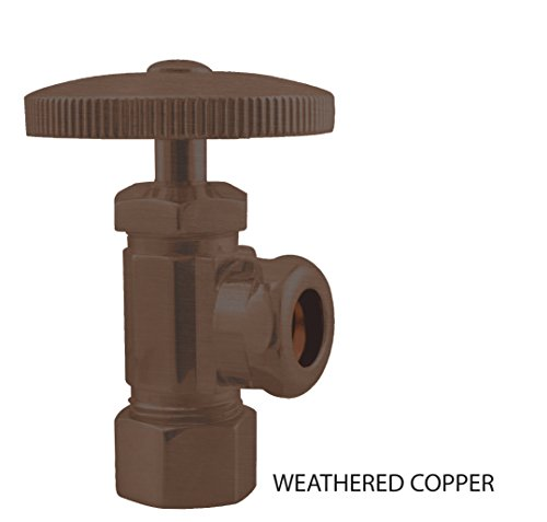 Weathered Copper Angle - Comp. Angle Stop, Weathered Copper