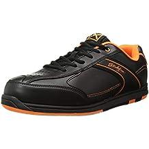 KR Strikeforce Bowling Shoes Mens Flyer Bowling Shoes- M US, Black/Orange, 10 (Renewed)