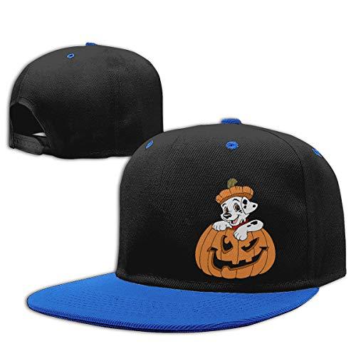 Head Space Puppy Clipart Halloween Children's Contrast Hip Hop Baseball Cap Blue