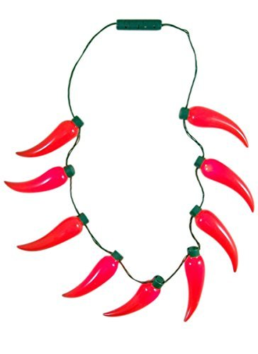 (Chili Pepper Light Up Fiesta Party Necklace)