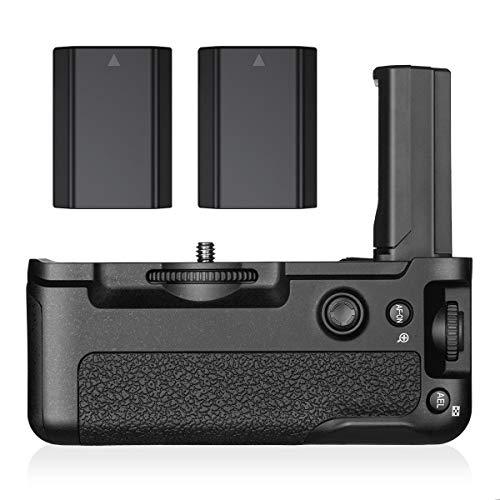 Powerextra VG-C3EM Battery Grip + 2-Pack High Capacity 2500 mAh NP-FZ100 Batteries Replacement for Sony Alpha A9 A7III A7RIII Digital SLR Camera