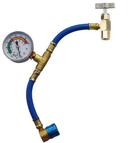 FJC 6037 R-134a U-Charge Hose and Gauge for Self-sealing Valve Cans