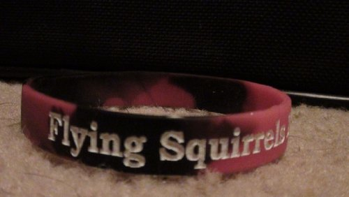 Red Squirrel Flying (Richmond Flying Squirrels Wristbands...Black and Red Swirl...Saids