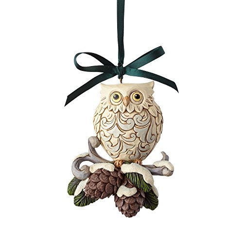 (Enesco Jim Shore Heartwood Creek Legend of Pinecone Owl Stone Resin, 4.5
