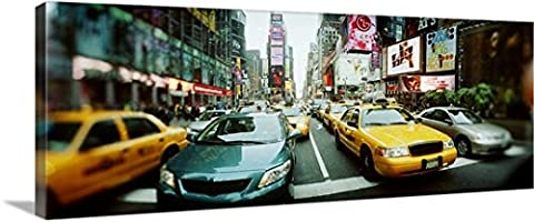Great BIG Canvas Gallery-Wrapped Canvas entitled Traffic on a road Times Square Manhattan New York City New York (72 Hours New York Times)