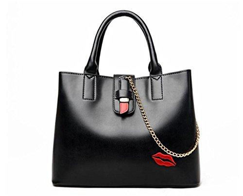 SHOUTIBAO Rouges Shopping Travail bandoulière Paquet Femmes Or à Main Mode black lèvres Unique Sac Diagonale Sac Noir Croix à gxfOqgwr6
