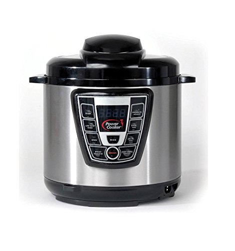 Power Cooker Pro - Digital Electric Pressure Cooker and Canner (6 Quart) As Seen on TV (Steam Pressure Cooker As Seen On Tv)