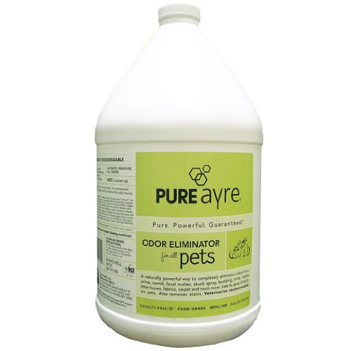 Price comparison product image PureAyre – All-Natural Plant Based Pet Odor Eliminator,  Pure,  Powerful and Completely Safe - 1 Gallon Refill Bottle