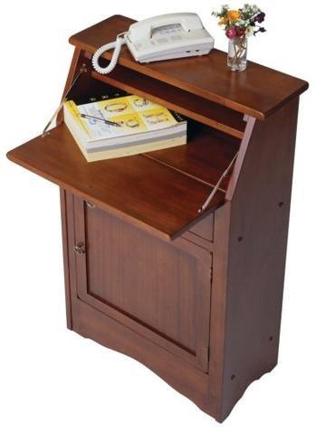 Ioneyes Secretary Desk Wood No (Black Secretary Desk)