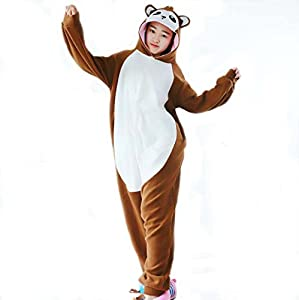Unisex Costume Animal Cosplay Onesie Adult Pajamas Anime Cartoon Sleepwear