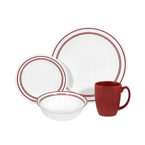 Amazon.com: Corelle Livingware 16-Piece – diseño clásico ...