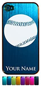 Engraved Aluminum iPhone 4/4S Case/Cover - BASEBALL, BASE BALL - Personalized for FREE (Click the CONTACT SELLER link after purchase to tell us your case color and engraving request)