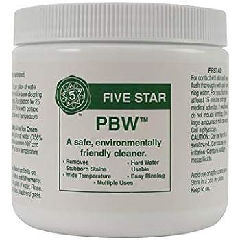 Amazon.com: PBW Five Star Limpiador alcalino en polvo - 2 ...
