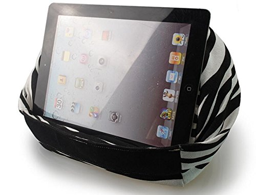 wBest Zabra Pattern Round Shape Tablet, iPad Reading Rest Pillow for e-reader, iPad Mini, iPad Air, iPad Air 2, iPad Pro 9.7