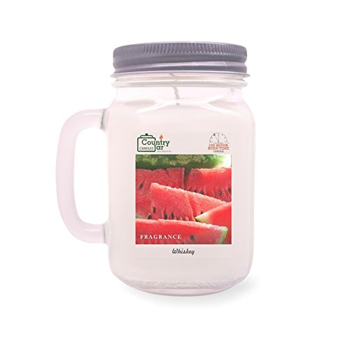 Watermelon Scented Jar Candles (Country Jar WATERMELON Handle Candle (14 oz. Mason-Carry Jar) New Year Sale 20% OFF! 3 or More Entire Catalog!)