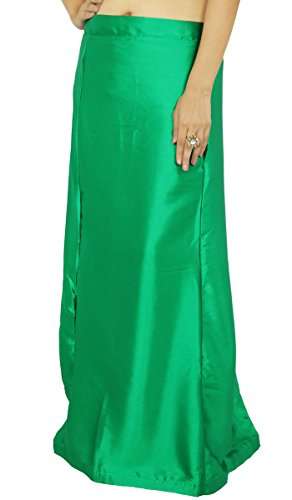 ibaexports Ready-Made Inskirt Lining For Sari Indian Satin Silk Petticoat Gift For ()