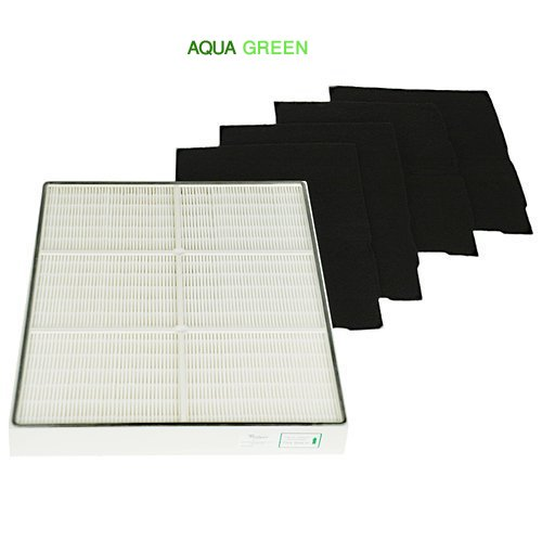Replacement Whirlpool 1183054K HEPA Filter & 4 Pre-Carbon Filters Fits Whispure Air Purifier Models AP450 and AP510 BY Aqua Green -