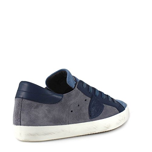 Homme Suède CLLUXY62 Philippe Baskets Model Bleu F5wEEWqnBa