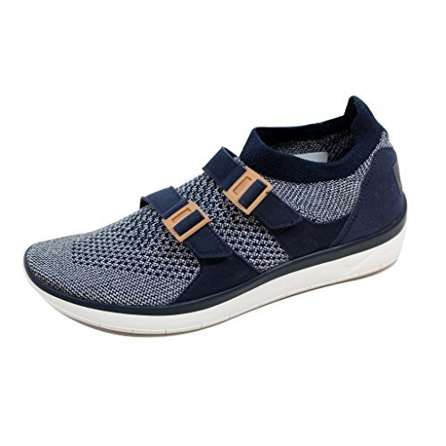 NIKE Women's Air Sockracer Flyknit College Navy/College Navy-Sail 896447-400 Running Shoes (6 B(M) US)