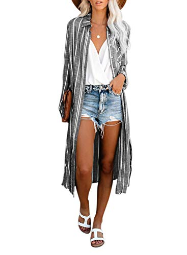 Dokotoo Womens Fashion Print Kimono Tassel Casual Cardigan Loose Cover up
