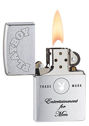 Zippo Playboy Entertainment for Men Pocket Lighter, Brushed Chrome